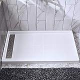 WOODBRIDGE SBR6036-1000C Shower Base 60' W x 36' D x 4' H, Center Drain, White