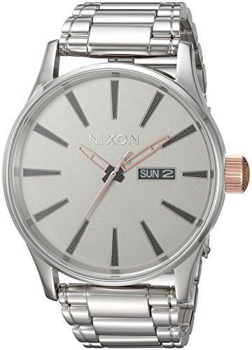 Nixon Men's 'Star Wars Phasma' Quartz Stainless Steel Casual Watch, Color:Silver-Toned (Model: A356SW2446-00)
