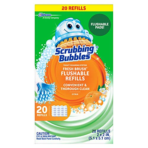 [해외]Scrubbing Bubbles Fresh Brush Toilet Cleaning System Flushable Refill 20 Count / Scrubbing Bubbles Fresh Brush Toilet Cleaning System, Flushable Refill, 20 Count