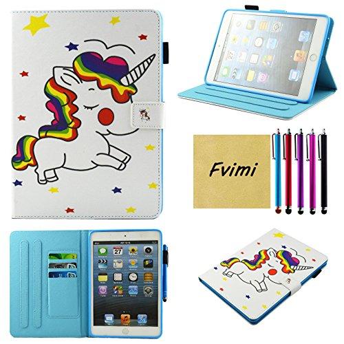 e6f20d6d0e bien déchiré iPad Mini Coque, iPad Mini 2/3 Housse, iPad Mini 4 Coque,  Fvimi fin à PU Cuir ...