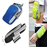 Sports Armband Arm Band Case Wrist Bag Strap Pouch Wallet Cell Phone Holder for Running Hiking Cycling Jogging