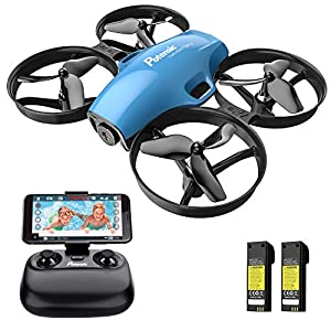 Drone with Camera for Kids, Potensic A30W RC Mini Quadcopter with 720P HD Camera, One Button Take Off/Landing, Route Setting, Gravity Induction and Emergency Stop-Dual Battery 51ghbSCXBuL