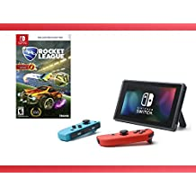 Nintendo Switch - Neon Blue and Red Joy-Con + Rocket League: Collector's Edition - Nintendo Switch Bundle ( 2 - Items )