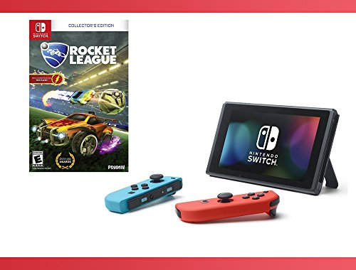 Nintendo Switch - Neon Blue and Red Joy-Con + Rocket League: Collector's Edition - Nintendo Switch Bundle ( 2 - Items ) by Nintendo.
