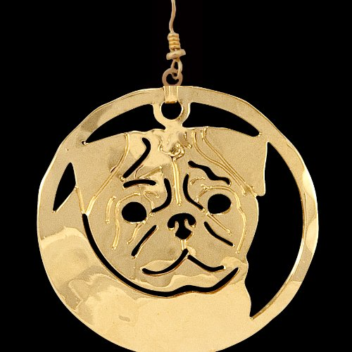 Haute Dauge Pug Gold Plated Earrings (T180EAR)