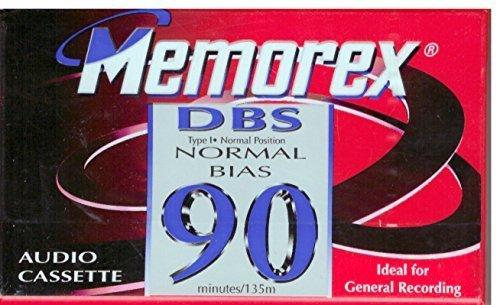 Memorex DBS 90 Single Blank Audio Cassette Tape vintage 5267129