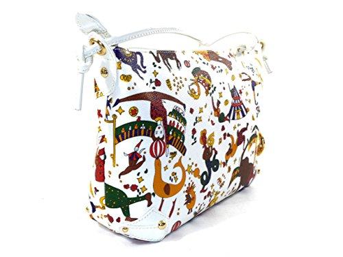 Borsa a tracolla Piero Guidi   Magic Circus Soft   Bianco   26 x 20 x 10 cm