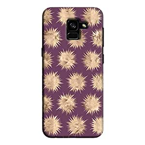 Cover It Up - Sand Star Purple Galaxy A8 2018 Hard Case