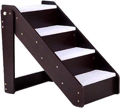 KJZ Escalera para mascotas, Sala de estar Escalera de madera Dormitorio Escalera de cuatro peldaños Balcón Escalera exterior Tamaño 63 * 46 * 59CM (Tamaño : 63 * 46 * 59CM): Amazon.es: Bricolaje y herramientas