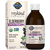 Garden of Life mykind Organics Elderberry Immune Syrup 6.59 fl oz (195 mL) for Kids & Adults – Sambucus, Echinacea, Zinc & Vitamin C, 0g Sugar, Organic Non-GMO Vegan & Gluten Free Herbal Supplements For Sale