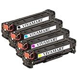 VIVAMART Premium Compatible High Yield Toner Cartridge Set for HP 305A CE410A CE411A CE412A CE413A