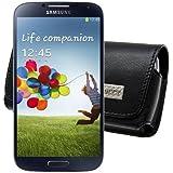 MTT Quertasche mit Gürtelclip und Sicherheitschlaufe speziell für das Samsung Galaxy S4 mini i9195 schwarz (nicht geeignet für das Galaxy S4 i9505)