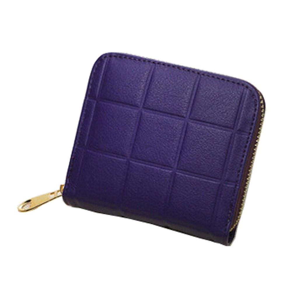 Mini Slim Wallet Femmes utiles Grille Multicard portefeuilles Porte-monnaie, E Blancho Bedding