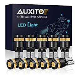 AUXITO 194 LED Light Bulb, Amber Yellow ...