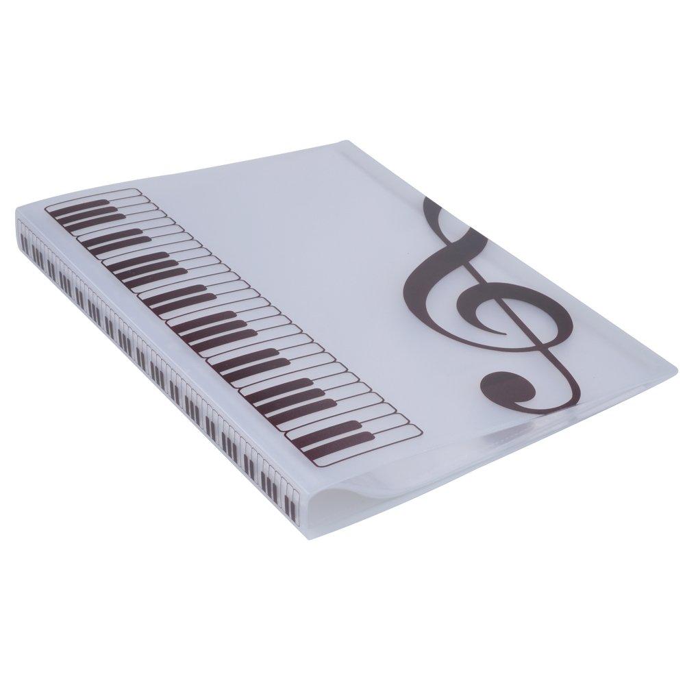 Cartella per spartiti cartelletta porta documenti in formato A4/con 40 fogli G Clef-Blue