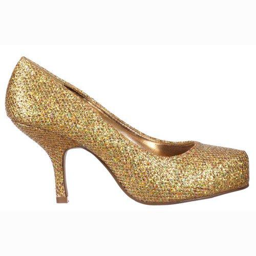 Señoras Onlineshoe Oro Zapatos Mujer Para Gatito Tacón Gold Del Bajo Tenis Brillante Glitter rrwSqd