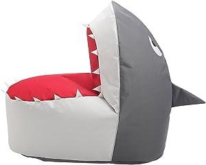 OLizee Creative Shark Bean Bag Chair for Kids Lovely Tatami Oxford Fabric Cartoon Lazy Sofa, 37.4 X 26.7 X 34.2