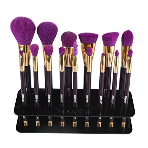 1PC Makeup Brush Holder Drying Rack 15 Hole Square Plastic M