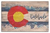 Lantern Press Colorado State Flag – Watercolor – Rustic (10×15 Wood Wall Sign, Wall Decor Ready to Hang) Review