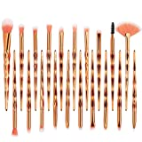 Makeup Brushes Set Unicorn - INTVN 20Pcs Rose Gold Brushes Unicorn Makeup Brush Set - Blending Face Powder Blush Concealers Eye Concealer Brushes Kit