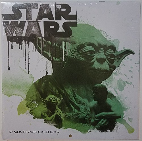 2018 Licensed Characters 12- Month Wall Calendars, 10x10 in. (Disney Star Wars)