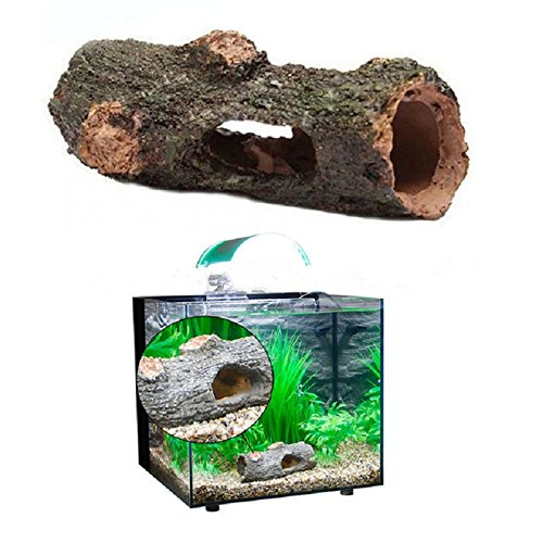Alotm Aquarium Decorations Cave Resin Artificial Driftwood Decaying Trunk Ornament for Hiding, Fish Tank Landscape Decor Plant Tree Wood Fish Tank Accessories