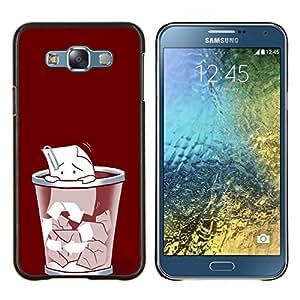 """Be-Star Único Patrón Plástico Duro Fundas Cover Cubre Hard Case Cover Para Samsung Galaxy E7 / SM-E700 ( Triste clip de papel"""" )"""