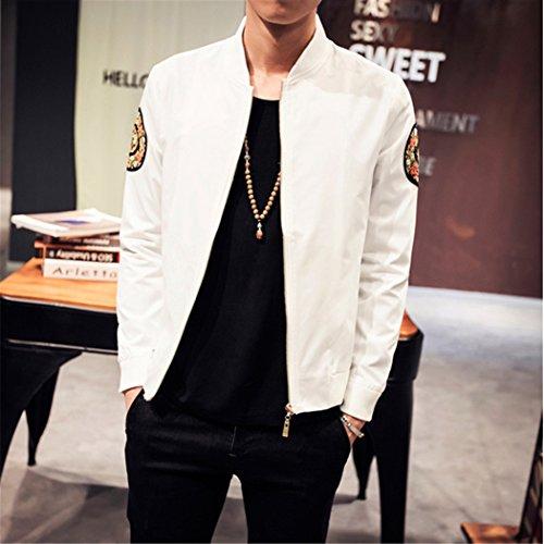 Hombres chaqueta Chaqueta Chaqueta Hombre en un adelgazamiento y 龙 más gruesa de terciopelo marea de blanco ,XL