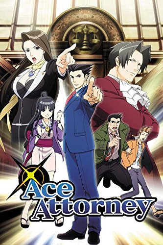 Ace Print - POSTER STOP ONLINE Ace Attorney - Manga/Anime TV Show Poster/Print (Key Art/Characters) (Size: 24