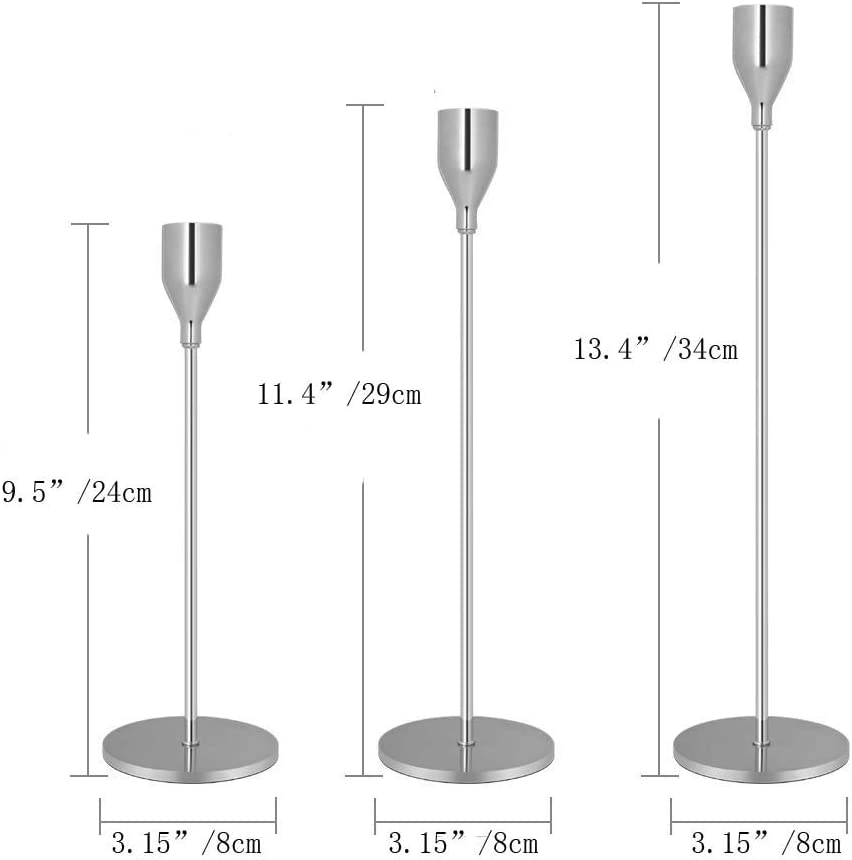 Nuptio 2 Pcs Bougejoir Simple T/ête D/écoration de Fer pour Le Mariage Table Principale de F/ête Ornement /à la Maison Bar 2 x Grand