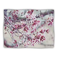 """Kess InHouse Suzanne Carter """"Bloom Pink"""" Pet Dog Blanket, 40 by 30-Inch"""