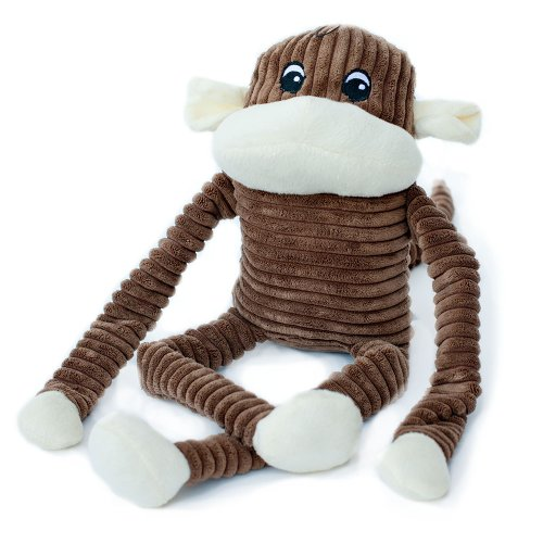 ZippyPaws Spencer the Crinkle Monkey – Squeaky Plush Dog Toy (Extra-Large), My Pet Supplies
