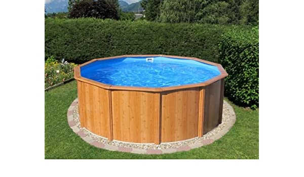 Acero Pared Pool gigazon de woodstyle 3, 60 x 1, 32 m con 15 cm de ...