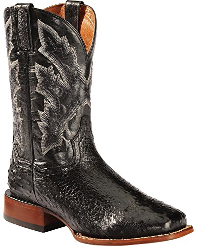 Dan Post Men's Full Quill Ostrich Cowboy Boot Square Toe Black 11 D(M) US (Dan Post Ostrich Boots)