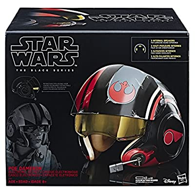 Star Wars The Black Series Poe Dameron Electronic X-Wing Pilot Helmet by Hasbro - Import