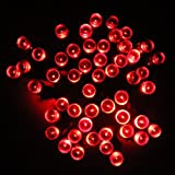 Lycheers®colour Solar Christmas String 17m 100 LED Solar Fairy String Lights for Outdoor, Gardens, Homes, Christmas Party, Waterproof (17M 100led, Red)