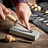 VonHaus 16pc Wood Carving Tool Set with Wood
