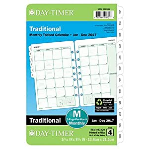 Day-Timer Monthly Planner Refill 2017, Two Page Per Month, Loose Leaf, 5-1/2 x 8-1/2-Inch (87229)