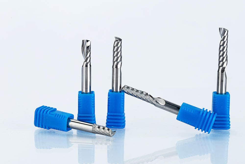 Milling Cutter 2Pcs/Lot Shank 6Mm CNC Router Bit Single Flute Spiral Cutter End Mill Carbide Milling Cutter for Wood Acrylic PVC Mdf-6Mmx6Mmx32Mm 6mmx6mmx52mm
