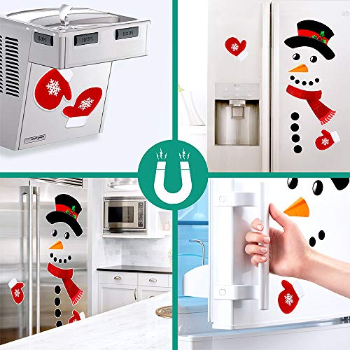 Snowman Sticker Snowman Refrigerator Magnetic Stickers Set Funny Window Stickers For Holiday Christmas Decoration For Fridge Kitchen Unit Or Door