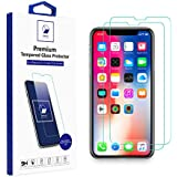 iPhone X Screen Protector, WINAKED Clear Tempered Glass Display Protection - Easy Installation Frame (Smart-Designed), Bubble Free, Anti-Scratch, 99.99% 3D Touch Accurate for Apple iPhone X [2-Pack]