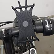 Schwarz Toppaie Fahrrad Handyhalterung 360/°drehbar Universal Silikon Unterst/ützung Fahrrad Motorrad Lenker Handyhalter f/ür alle 4-6 Zoll Handys