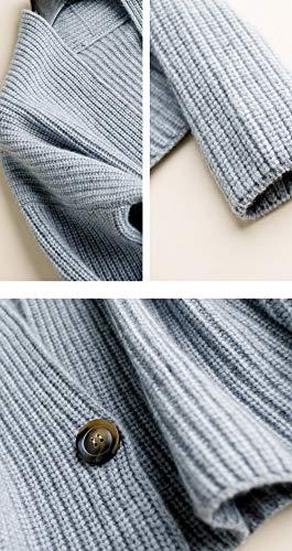 Manica Cardigan Grau Donna Dissa Lunga qXR5wSf