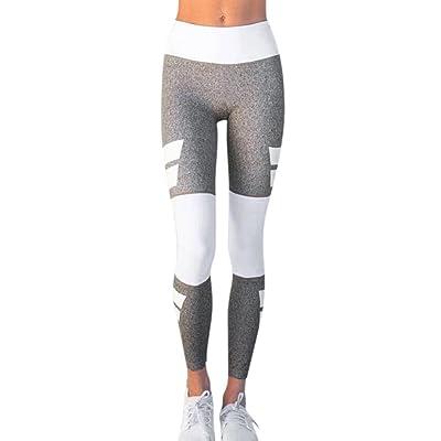 SINMA Women High Waist Patchwork Yoga Leggings Casual Fitness Athletic Pants Trouser