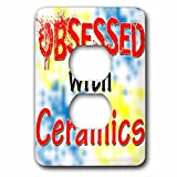 Blonde Designs Obsessed With - Obsessed With Ceramics - Light Switch Covers - 2 plug outlet cover (lsp_241567_6)