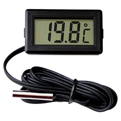TOOGOO(R) Thermometer Anzahl LCD -40 Degrees Celsius+110Degrees Celsius Temperaturmessgeraet Temperaturmessung, 2 Meter