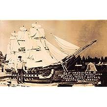 RP Postcard Old Ironsides 25 foot Model Sailing Ship Southerlin, Oregon~112832