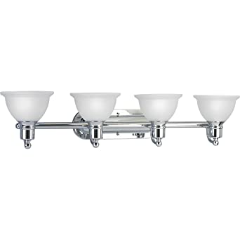 Progress Lighting P3164 15 4 Light Bath Bracket Polished Chrome