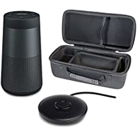 Bose SoundLink Revolve Portable Bluetooth Speaker with 360° Sound, Triple Black, with Charging Cradle & Portable Hardshell Travel Case