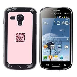 Be Good Phone Accessory // Dura Cáscara cubierta Protectora Caso Carcasa Funda de Protección para Samsung Galaxy S Duos S7562 // pink Cloud
